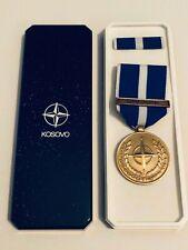 NATO KOSOVO SERVICE MEDAL / Original Issue NATO Plastic Case With Ribbon