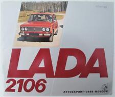 LADA 2106 Car Sales Brochure 1978 #032960