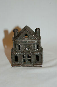"""CAST IRON """"VICTORIAN HOUSE (SMALL)"""" BUILDING STILL BANK"""