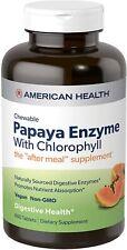 American Health Papaya Enzyme w/Chlorophyll Chewable 600 Tablet  Exp 06/2023