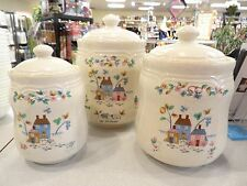 International HEARTLAND SET OF 3 LIDDED CANISTERS 940815  REALLY NICE!