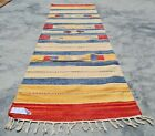 Authentic Hand Knotted Woven Vintage Kilim Kilm Area Rug 6 x 2 Ft (10082 KBN)