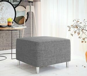 Hocker Doris Wohnzimmer Polsterhocker Sirzbank Grau Modern Kollektion Design M24