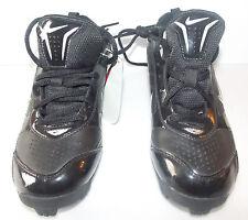 Nike Expand Tech Boys Cleats Black White Size 3Y NWOT
