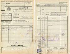 Frachtbrief 1921, Eisenwaren G. Weller, NORDHAUSEN, Frachtstempelm. 15Pf