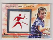 RARE 2012 TOPPS OLYMPIC ARIEL HSING EVENT PIN CARD ~ TABLE TENNIS ~ PING PONG