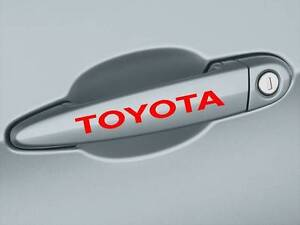 TOYOTA Camry Corolla Supra Tacoma Tundra Door Handle Decal sticker emblem logo R