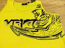 Ladies Valentino Rossi Singlet Moon 46  Yellow New Official Merchandise SALE