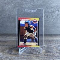 CRAIG BIGGIO ROOKIE CARD 1988 Leaf-Donruss #561 Donruss 89 RC HOF