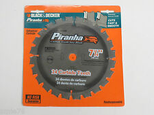 "Black&Decker Piranha 7 1/4"" Industrial Carbide tipped 24T Circular Saw Blade;NEW"