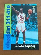 🏀 1995-96 UD Collector's Choice Basketball Checklist #410 Michael JORDAN 🏀