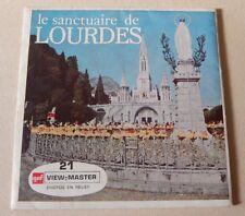 Stéréo VIEW MASTER 3 Disques : Le SANCTUAIRE de LOURDES dans sa pochette