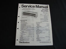 Original Service Manual Technics Receiver SA-Z50