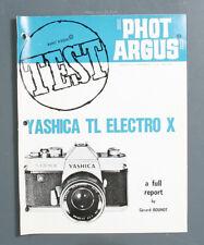 PHOTO ARGUS YASHICA TL ELECTRO X TEST, 1969/135171