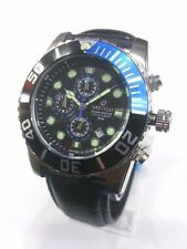 Sartego Ocean Master sports Chronograph 200 meter Leather band watch SPC71-L