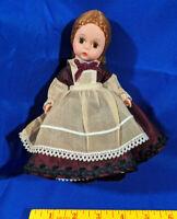 "Madame Alexander Doll Little Women Jo Made in USA 8"" Braided Hair Jewel Dress"