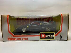 Burago 0532 - Ferrari F40 1987 Black - Diecast Model - 1/24 Scale