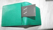 Armani Exchange GREEN   leather WALLET BRAND NEW