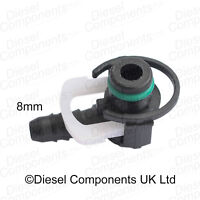 Common Rail Quick Release Connector Coupler 8mm Angled 90 Degree