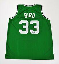 LARRY BIRD Signed Green Jersey - Boston Celtics - Beckett Witnessed COA