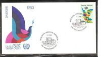 U.N Vienna SC # 8 Dove Type Of UN FDC . UNPA