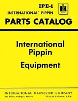 International Pippin 120 260 350-A 350B 350-B 460 460H  Backhoe Parts Manual IH