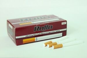 1000 RED (17mm) EMPTY ROLLO TUBES Cigarrette Tobbacco Filter + FREE INJECTOR