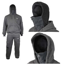 Mens Location Full Fleece Tracksuit Set Pant Balaclava Hoodie Hoody Training New