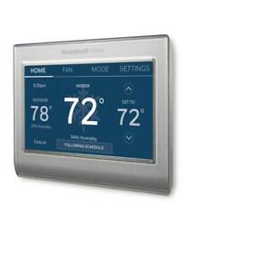 7-Day Programmable Smart Wi-Fi Thermostat w/ Color-Changing Touchscreen Display