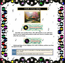 AUCTION TEMPLATE Records Music Notes Border Design - Free Shipping
