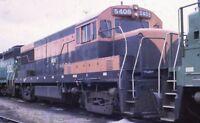 Unidentified Railroad Locomotives GALESBURG IL Original 1972 Photo Slide