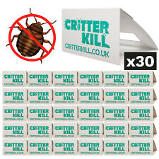 30 X BEDBUG TRAP KILLER KILLS BED BUGS TREATMENT TRAPS MONITOR KILL CATCHER HOME