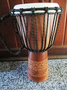 Djembe 45 cm Profi Instrument Naturholz Trommel Bongo Schlagzeug Afrika