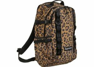 NEW AUTHENTIC SUPREME LEOPARD BACKPACK FW20 BAG STICKERS FREE SHIP