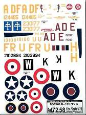 Decals Carpena - B-17E / F / G Flying Fortress 1/72