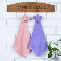 Towels Wash Hanging Water Star Coral Velvet Towel Absorption KItchen Strong