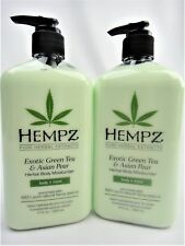 2 Hempz Exotic Green Tea And Asian Pear Herbal Moisturizer Lotion 17oz Bottles