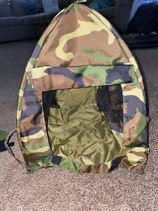 """Build A Bear Tent Camo Military Camouflage 17"""" x 15"""" x 14"""" Camping Hunting"""