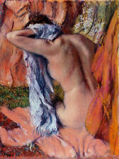 Edgar Degas canvas print  After bathing giclee 8X12&12X17