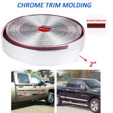 "Chrome Trim Molding 2"" Door Side Tailgate Threshold Bumper Decorate Strip 7Feet"