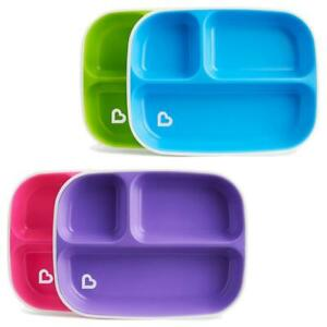 Munchkin Splash Divider Plates Toddler Plate with Sections 2 Pack