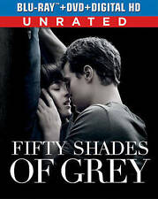 Fifty Shades of Grey (Unrated Blu-ray + DVD + DIGITAL HD + UltraViolet), New DVD