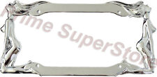 Nude/Naked Ladies Women Twin Girls Chrome Metal Car / Truck License Plate Frame