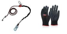 TOP Seilkürzer Halteseil 2m + Handschuhe Kletterausrüstung Baumpflege Fallschutz
