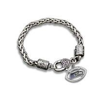 Seattle Seahawks Football Charm Dangle Women's Fashion Clasp Bracelet