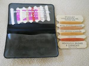 2 Vintage Advertising Sewing Kits / Stanley Home Products & Lewis Insurance