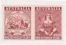 (K26-68) 1950 AU 21/2d pair centenary of the 1st stamp MUH