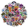 50 Scary Horror Themed Mixed Skateboard Stickers Skull Blood Gore Sticker Bomb