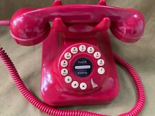 Vintage Red GRAND PHONE Flash Dial Desk Type RETRO Phone Telephone