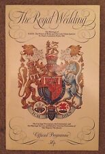 OFFICIAL PROGRAMME 1981 THE ROYAL WEDDING - PRINCE CHARLES & LADY DIANA SPENCER